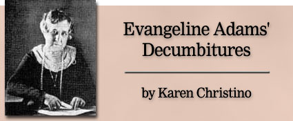Evangeline Adams' Decumbitures by Karen Christino