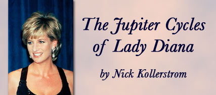 The Jupiter Cycles of Lady Diana by Nick Kollerstrom