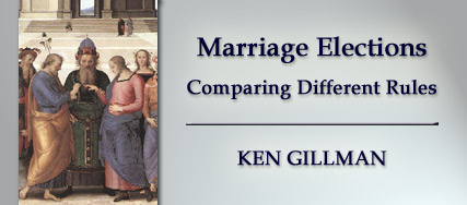 Marriage Elections, By Ken Gillman