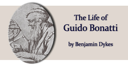 The life of Guido Bonatti by Benjamin Dykes