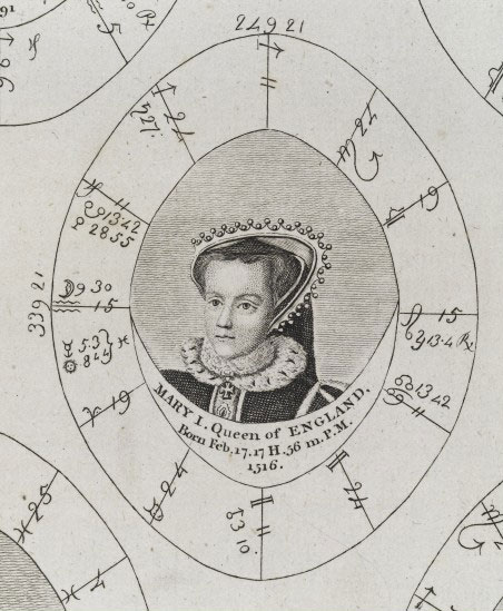 Sibly's horoscope for Queen Mary I