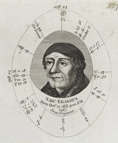 Sibly's horoscope for Erasmus