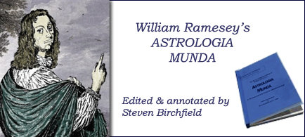 William Ramesey's Astrologia Mundi by Steven Birchfield