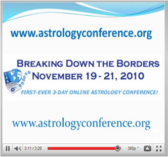 Second 'first-ever' three-day live internet astrology conference.