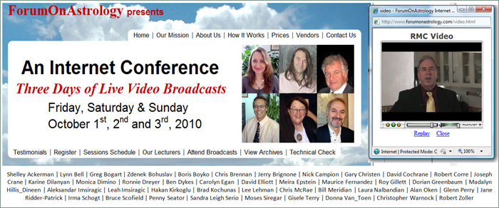 'First three-day live internet astrology conference.