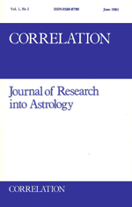 Correlation: Journal of Research into Astrology