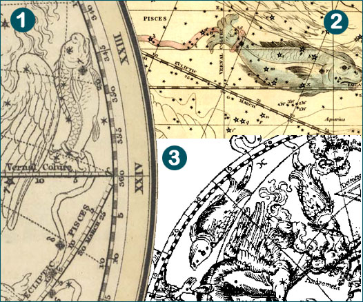 the vernal point marked on celestial star maps