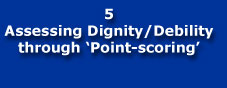 Assessing Dignity/Debility through Point-scoring