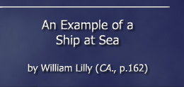 An Example of a Ship at Sea by William Lilly