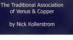 The Traditional Association of Venus and Copper by Nick Kollerstrom