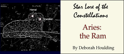 Star Lore of the Constellations: Aries the Ram - by Deborah Houlding