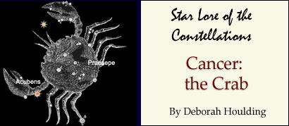 Star Lore of the Constellations: Cancer the Crab - by Deborah Houlding