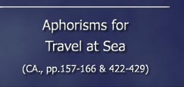 Astrological Aphorisms for Travel at Sea